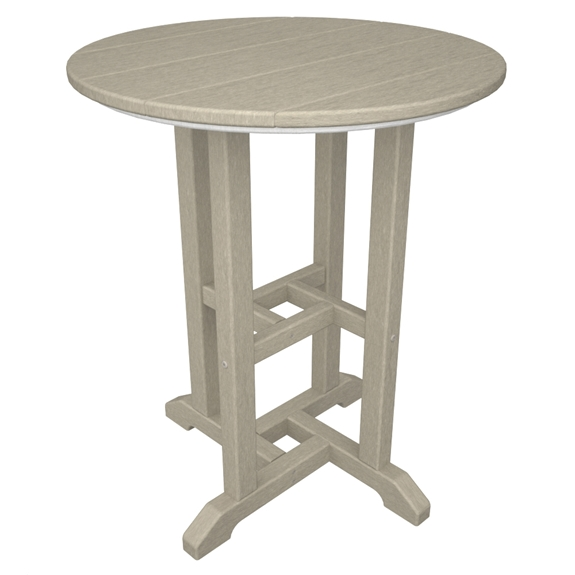 Polywood Traditional 24 Inch Round Dining Table Rt124