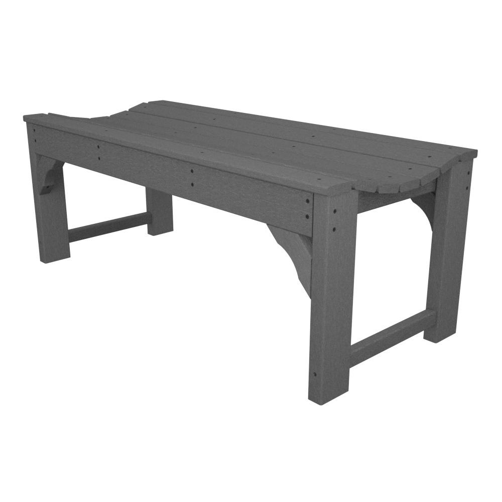 Outstanding Polywood Traditional Garden 48 Inch Backless Bench Frankydiablos Diy Chair Ideas Frankydiabloscom