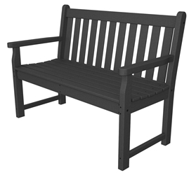 polywood traditional garden 48 inch bench tgb48 - Garden Furniture Traditional