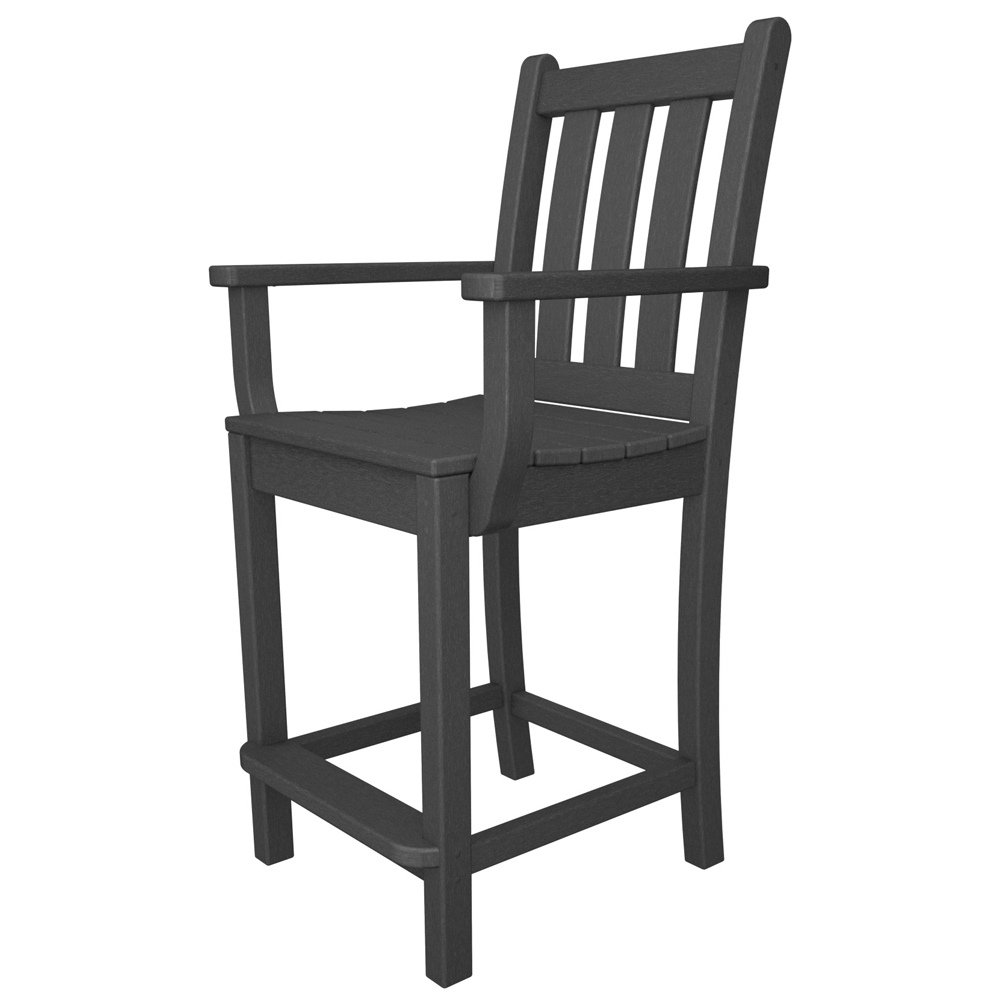 PolyWood Traditional Garden Counter Chair - TGD201