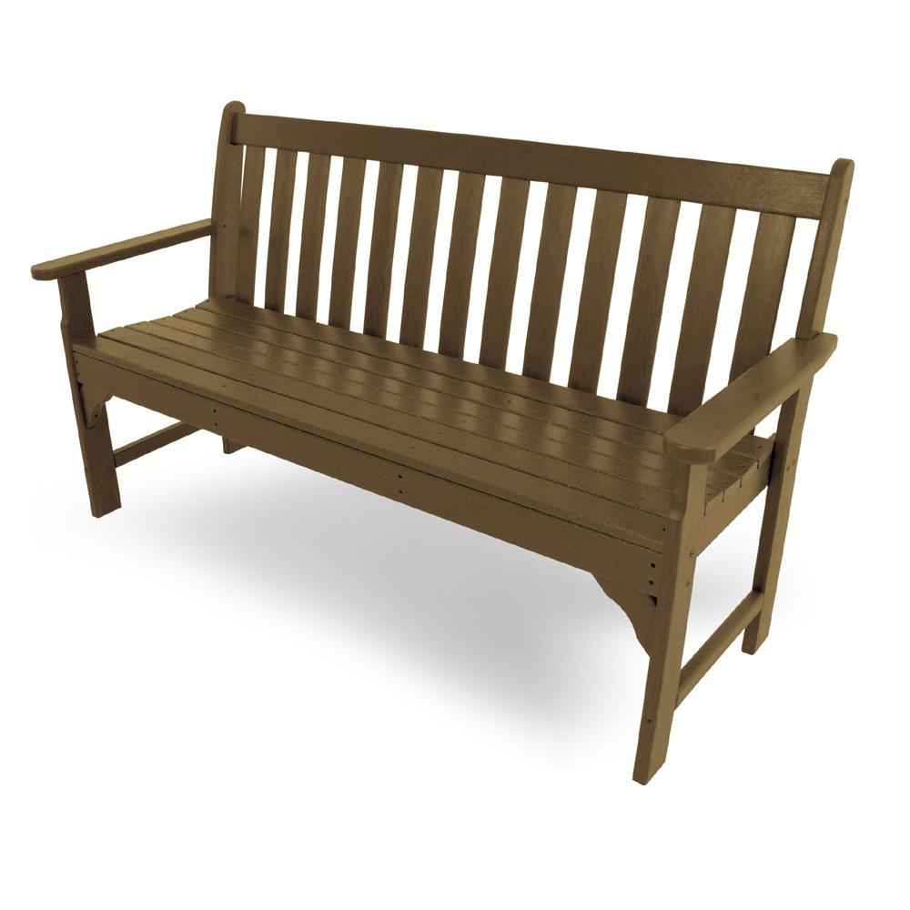 Enjoyable Polywood Vineyard 60 Inch Garden Bench Bralicious Painted Fabric Chair Ideas Braliciousco