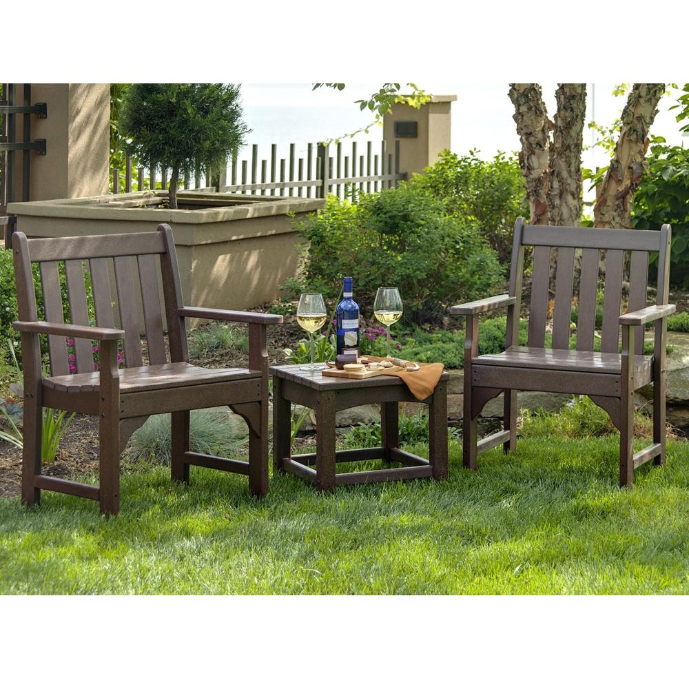 Wondrous Polywood Vineyard 3 Piece Garden Chair Set Creativecarmelina Interior Chair Design Creativecarmelinacom