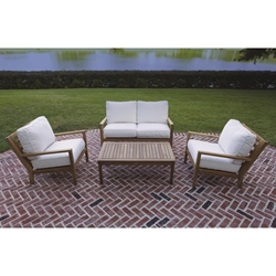Royal Teak Coastal Teak Love Seat and Lounge Chair Set - RT-COASTAL-SET6