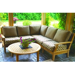 Royal Teak Miami Teak Outdoor Sectional Set - RT-MIAMI-SET8