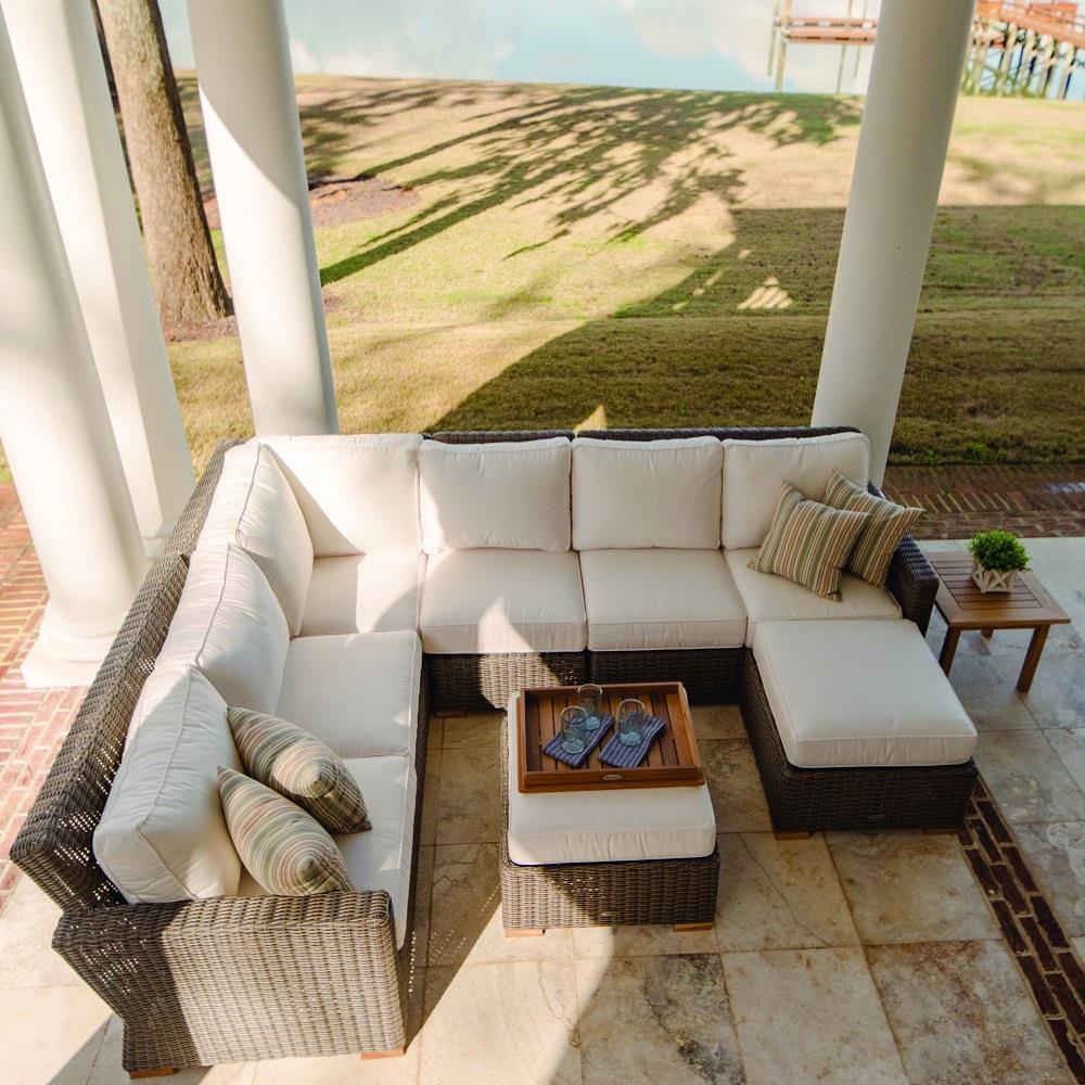 Royal Teak Sanibel Outdoor Wicker Sectional Furniture Set ...