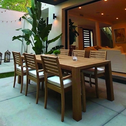 "Royal Teak Avant Outdoor Dining Set for 6 with 96"" Table - RT-AVANT-SET3"