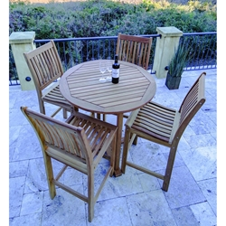 Royal Teak Patio Bar Set for 4 - RT-BAR-SET2