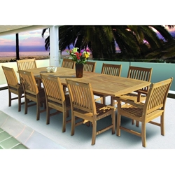 Royal Teak Compass Outdoor Dining Set for 10 - RT-COMPASS-SET1