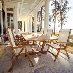 Royal Teak Florida Sling Dining Set for 6 - RT-FLORIDA-SET1
