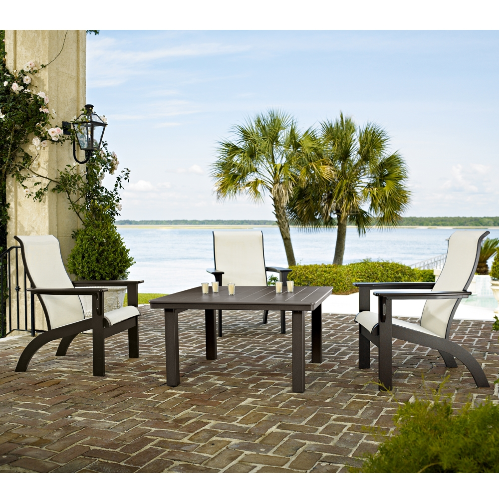 Adirondack MGP Sling Patio Chat Set