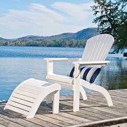 Telescope Casual Mgp Adirondack Chair And Ottoman Set Tc Set2