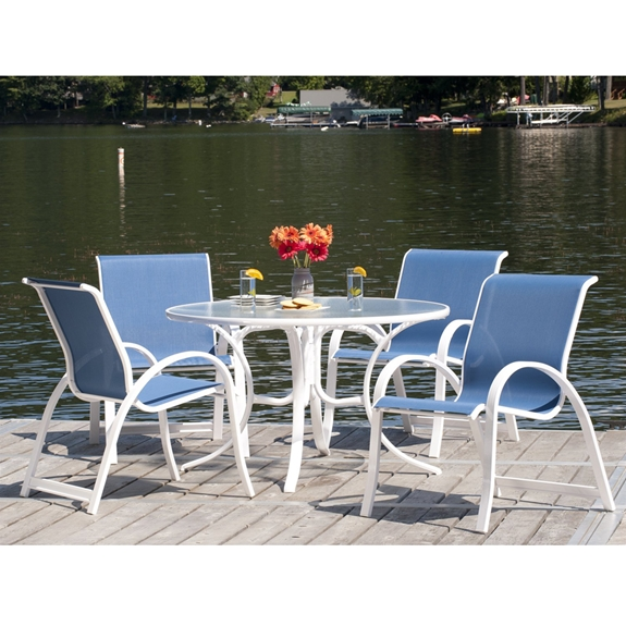 Telescope Casual Aruba Ii Sling 5 Piece Dining Set W