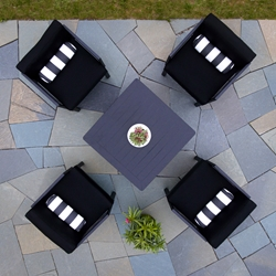Telescope Casual Ashbee Cushion Lounge Chair Outdoor Set for 4 - TC-ASHBEE-SET-12