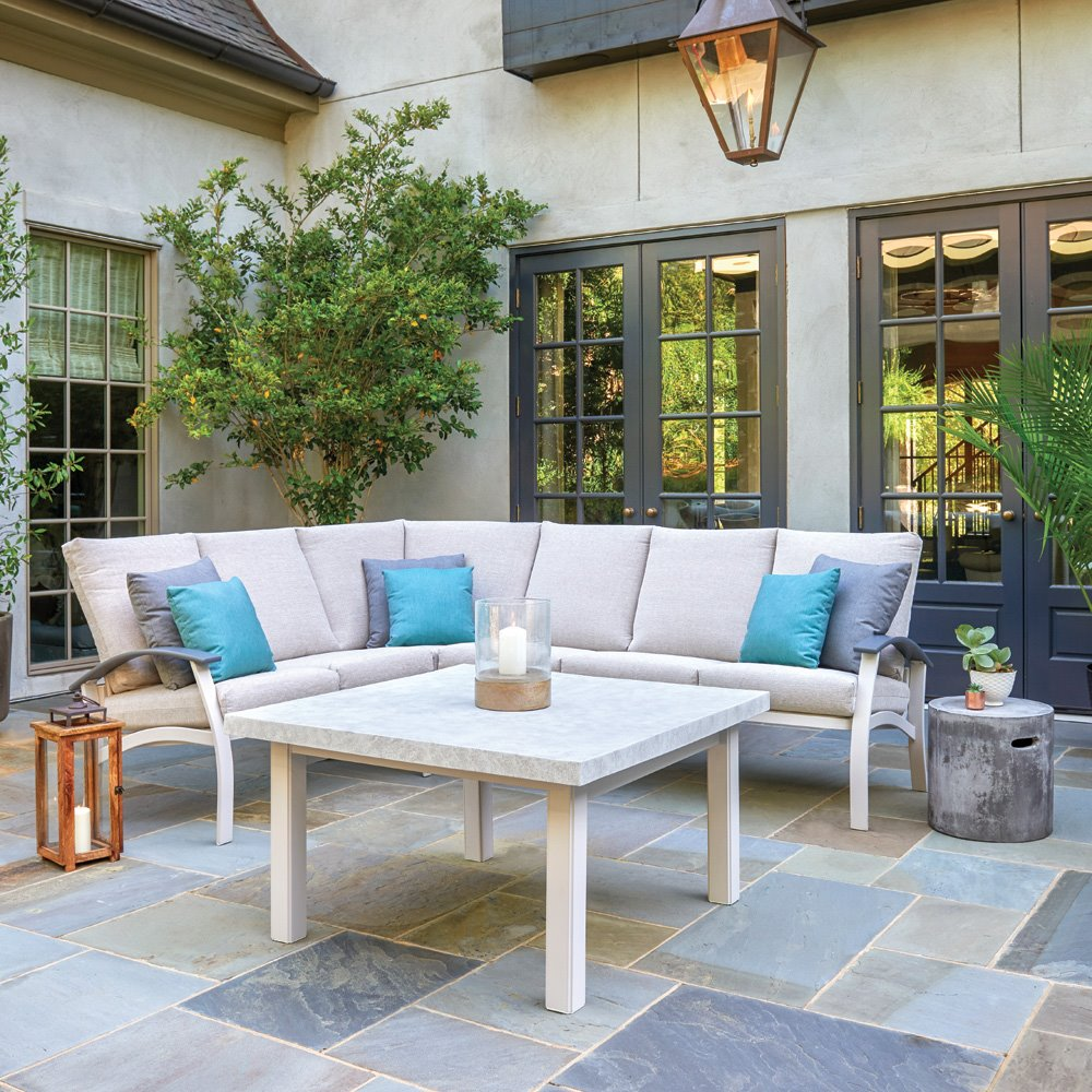 Telescope Casual Belle Isle Cushion Patio Sectional - TC-BELLEISLE-SET06
