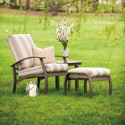 Telescope Casual Belle Isle Lounge Chair, Ottoman, and Table Set - TC-BELLEISLE-SET03