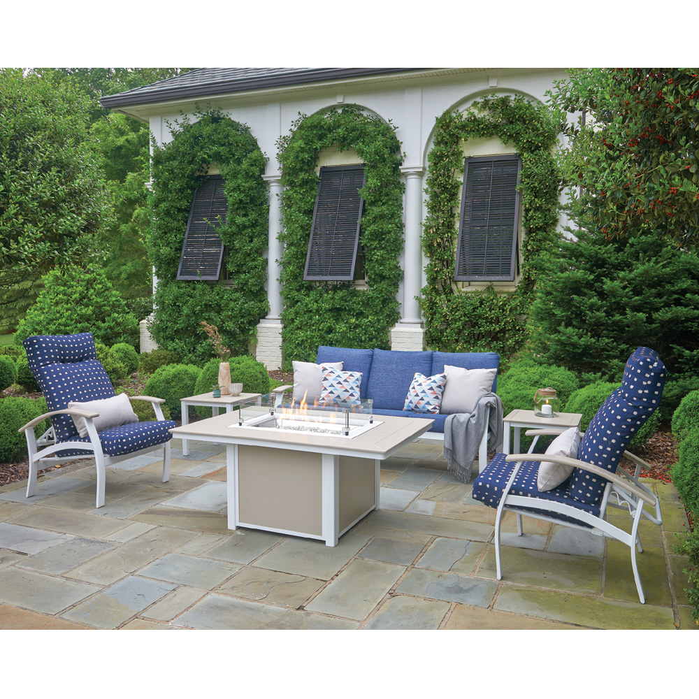 Telescope Casual Belle Isle Fire Pit Patio Set - TC-BELLEISLE-SET04