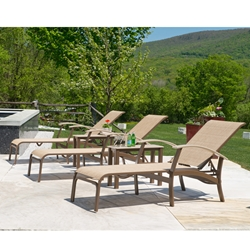 Telescope Casual Belle Isle Sling Chaise Lounge Set - TC-BELLESLING-SET3