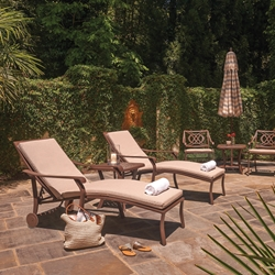 Telescope Casual Cadiz Cast Aluminum Chaise Lounge Set with Cushions - TC-CADIZ-SET2