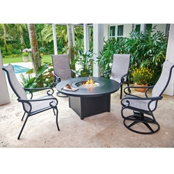 Telescope Casual Charleston Sling Outdoor Fire Table Set - TC-CHARLESTON-SET1