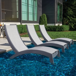 Telescope Casual Dune MGP Chaise Set of 3 for Pool Ledge - TC-DUNE-SET3
