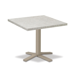 "Telescope Casual Elements 42"" Square Dining Table with Pedestal Base - TE20-2X20"