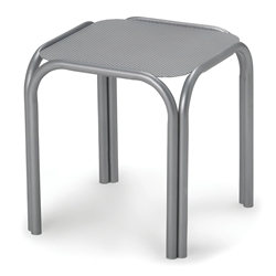 Telescope Casual 17 Inch Embossed Aluminum Top Square End Table - 210EA0