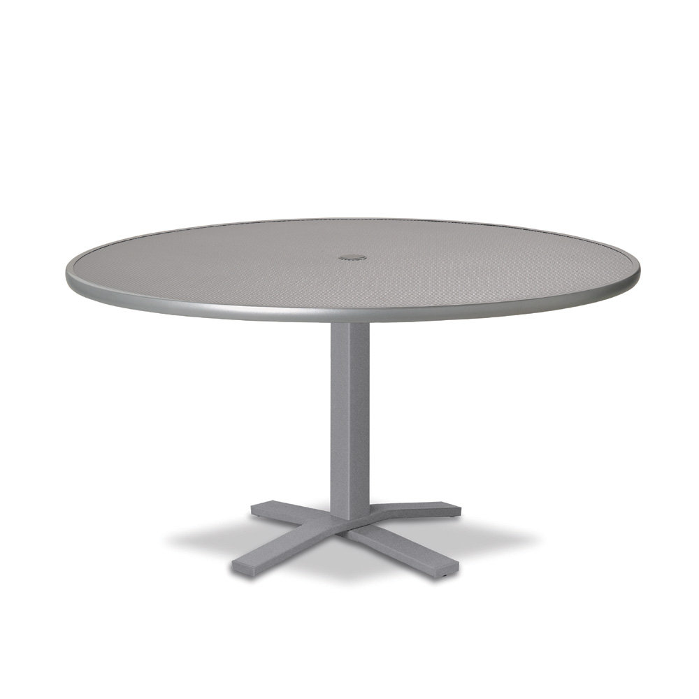 "Telescope Casual Embossed Aluminum 42"" Round Chat Table with Pedestal Base - T900-EA0-1X20"