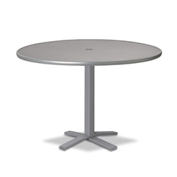 "Telescope Casual Embossed Aluminum 42"" Round Balcony Height Table with Pedestal Base - T900-EA0-3X20"
