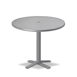 "Telescope Casual Embossed Aluminum 36"" Round Balcony Height Table with Pedestal Base - T960-EA0-3X20"