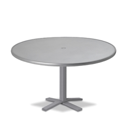 "Telescope Casual Embossed Aluminum 48"" Round Chat Table with Pedestal Base - T970-EA0-1X20"