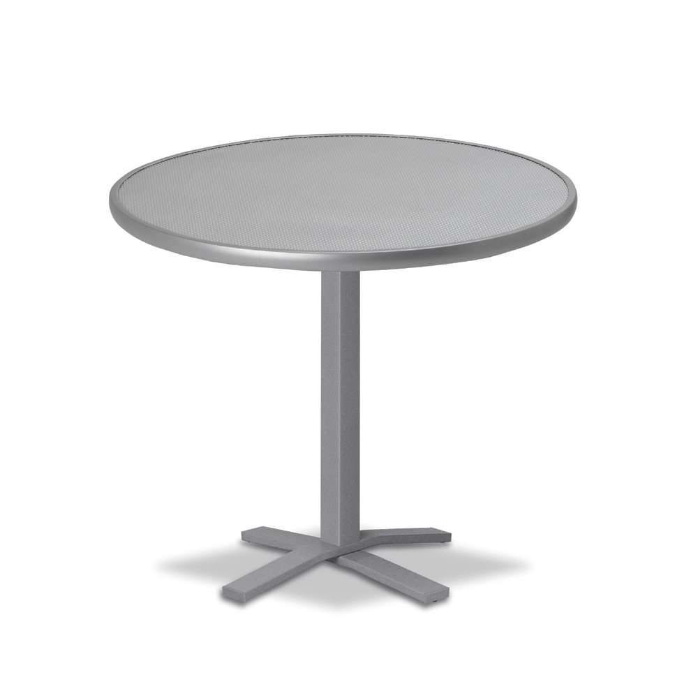"Telescope Casual Embossed Aluminum 30"" Round Dining Table  - T980-EA0-2X20"