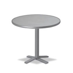 "Telescope Casual Embossed Aluminum 30"" Round Balcony Height Table  - T980-EA0-3X20"