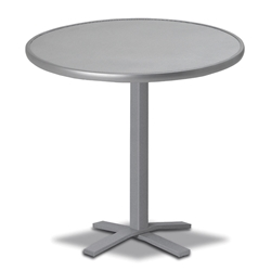"Telescope Casual Embossed Aluminum 30"" Round Bar Table - T980-EA0-4X20"