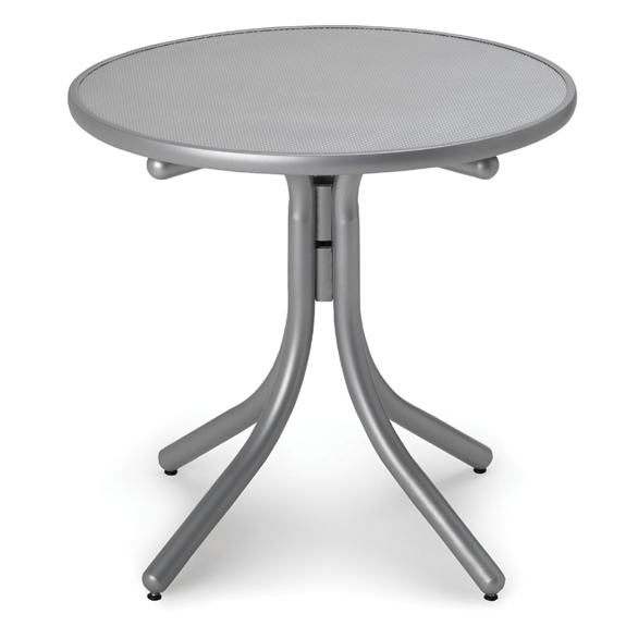 Telescope Casual 30 Inch Round Embossed Aluminum Dining Table - T980EAO-2W20LEG