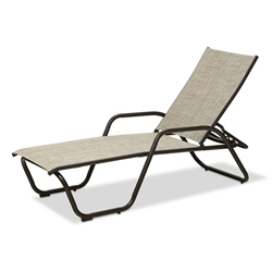 Gardenella Sling Four Position Lay Flat Stacking Chaise