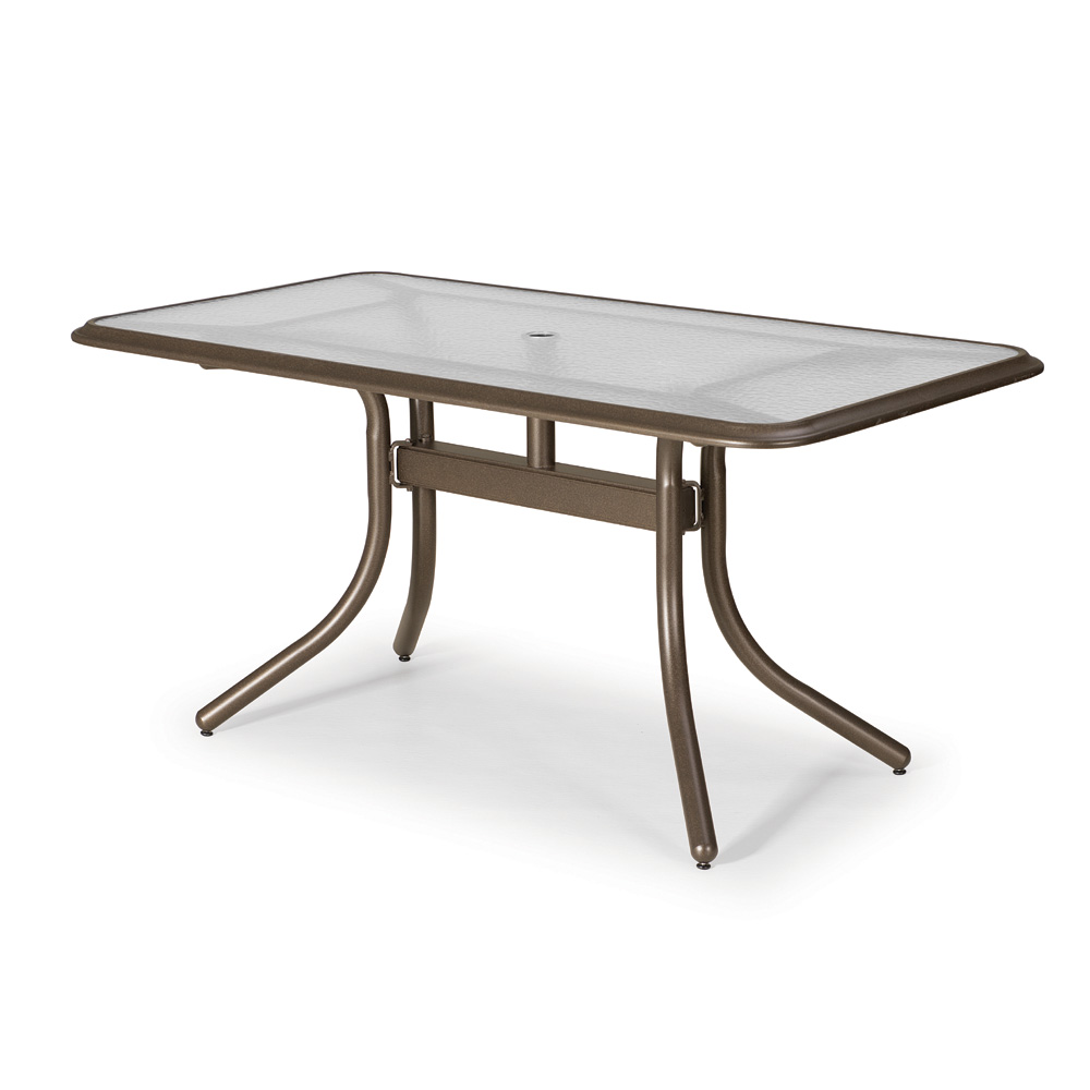 Telescope Casual 32 X 60 Rectangular Dining Table With Gl Top Ogee Rim