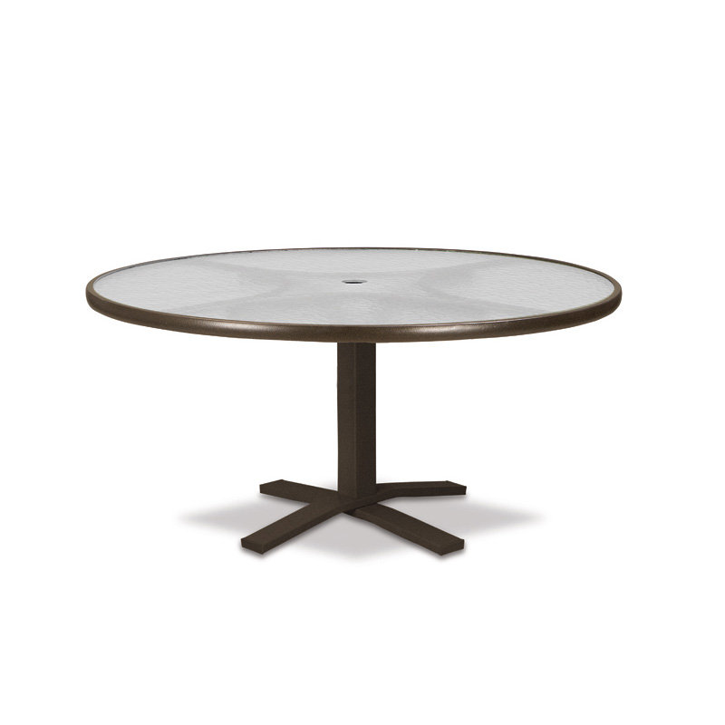 "Telescope Casual Glass Top 42"" Round Chat Table with Pedestal Base - 5900-TOP-1X20"