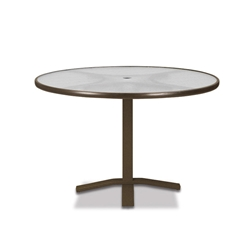 "Telescope Casual Glass Top 42"" Round Dining Table with Pedestal Base - 5900-TOP-2X20"