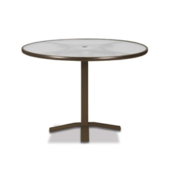 "Telescope Casual Glass Top 42"" Round Balcony Height Table with Pedestal Base - 5900-TOP-3X20"