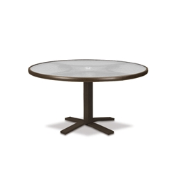 "Telescope Casual Glass Top 36"" Round Chat Table with Pedestal Base - 5960-TOP-1X20"