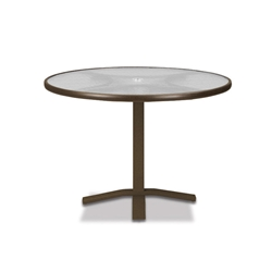 "Telescope Casual Glass Top 36"" Round Dining Table with Pedestal Base - 5960-TOP-2X20"