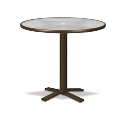 "Telescope Casual Glass Top 36"" Round Bar Table with Pedestal Base - 5960-TOP-4X20"