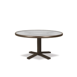 "Telescope Casual Glass Top 30"" Round Chat Table with Pedestal Base - 5980-TOP-1X20"