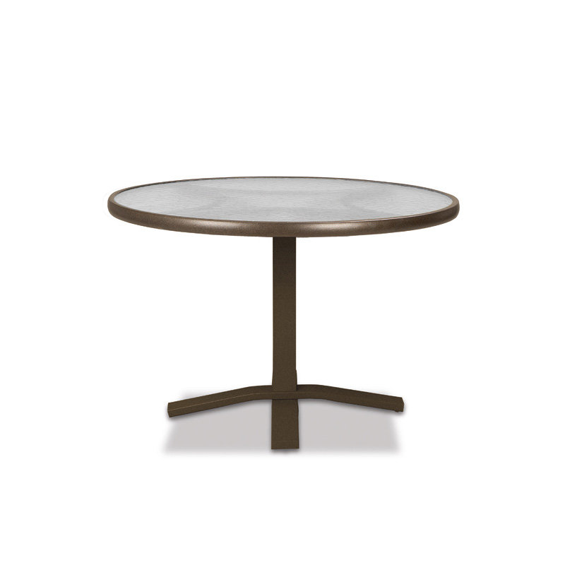 "Telescope Casual Glass Top 30"" Round Dining Table with Pedestal Base - 5980-TOP-2X20"