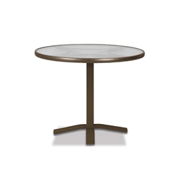 "Telescope Casual Glass Top 30"" Round Balcony Height Table with Pedestal Base - 5980-TOP-3X20"