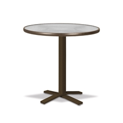"Telescope Casual Glass Top 30"" Round Bar Table with Pedestal Base - 5980-TOP-4X20"