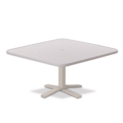 "Telescope Casual Hammered MGP 36"" Square Chat Height Table with Pedestal Base - 22""H - T930-1X20"