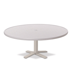 "Telescope Casual Hammered MGP 48"" Round Chat Height Table with Pedestal Base - 22""H - T970-1X20"