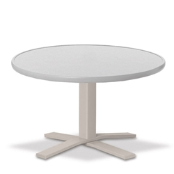 "Telescope Casual Hammered MGP 30"" Round Chat Height Table with Pedestal Base - 22""H - T980-1X20"