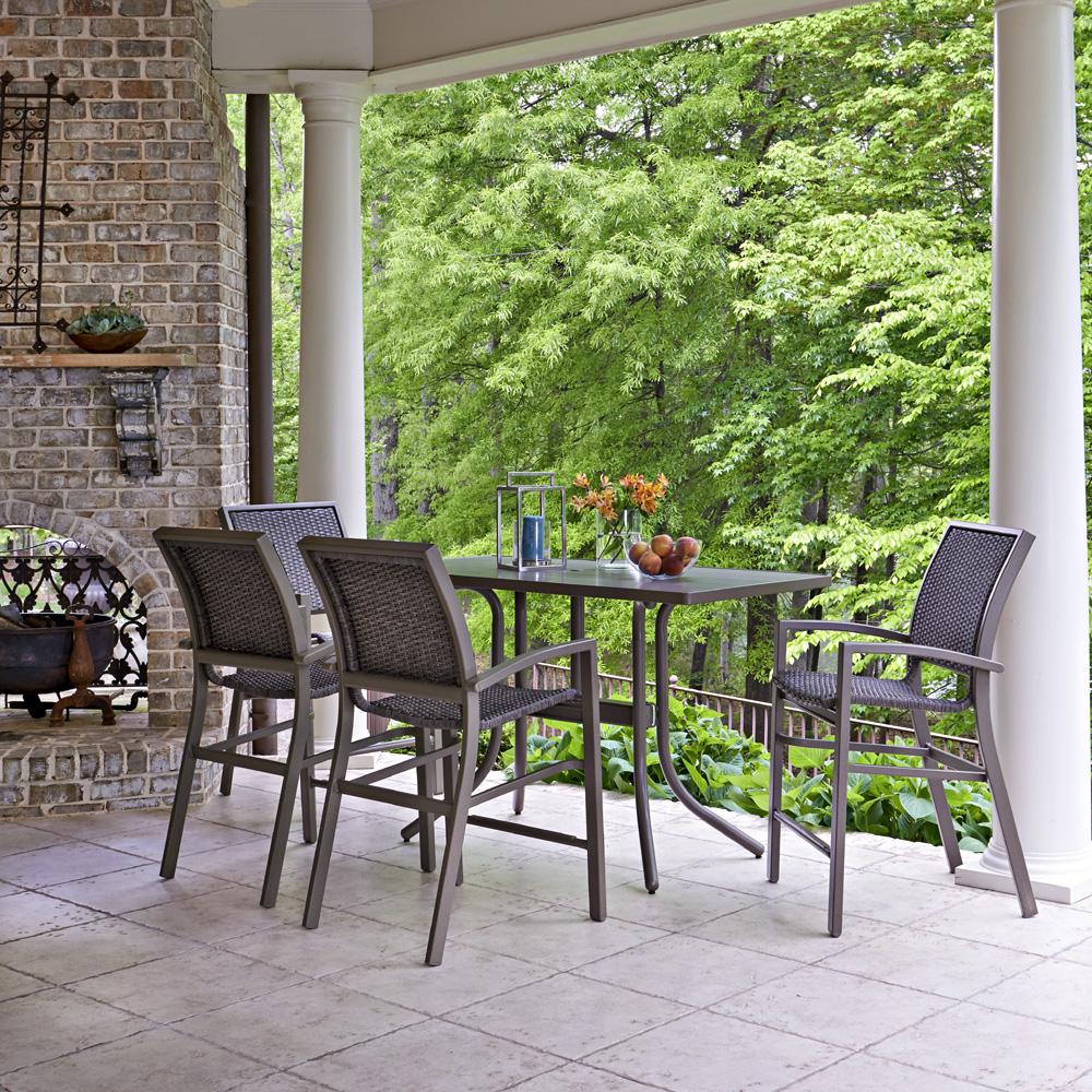 Telescope casual kendall wicker balcony height patio set for Balcony patio set